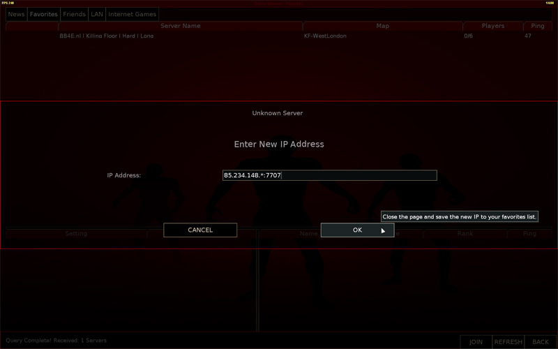 How Do I Connect To My Killing Floor Server Inx Game